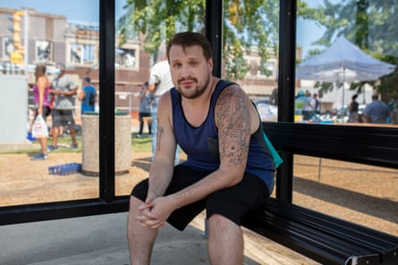 """""""It's awesome to see everyone working their butt off in the heat to support each other,"""" Tom Judt, a Kenosha native."""