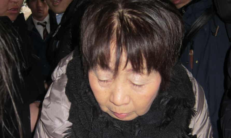 Chisako Kakehi, known as the 'Black Widow', who is accused of poisoning elderly men with cyanide.