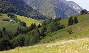 The countryside close to the Akasha Wellness Retreat, Romania