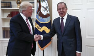 Trump and Sergei Lavrov met for talks the day after FBI director James Comey was fired.