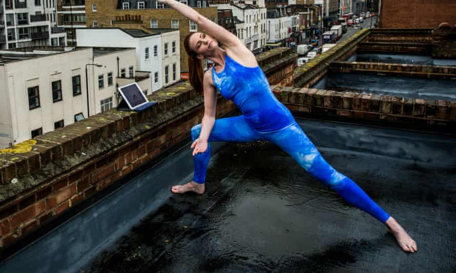 yoga on rooftop