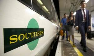 Southern train customers