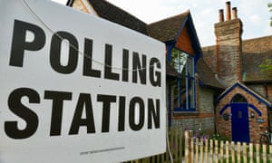A polling station in Dunsden, Oxfordshire