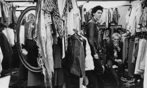 A clothing stall in Camden Market, circa 1980.