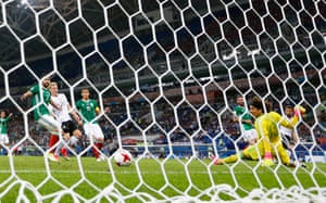 Younes scores Germany's fourth goal.