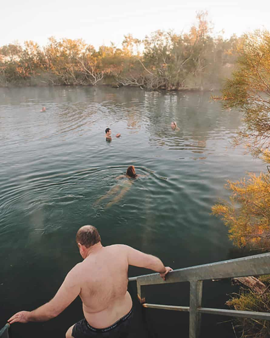 When the warm spring water is well noodled, the expression 'people soup' comes to mind, but it's also common to find that you have the pool all to yourself