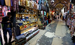 Sales are down for many traders at the Grand Bazaar.