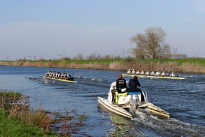 We're underway on the River Great Ouse.