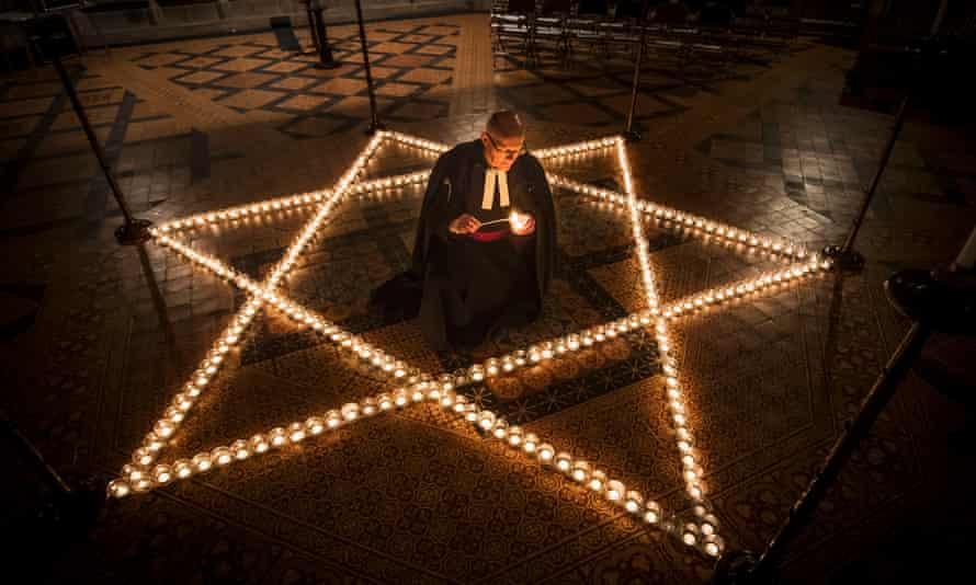 A Holocaust Memorial Day memorial  at York Minster.