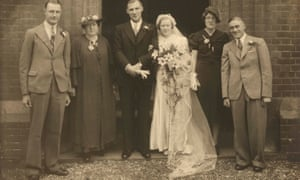 Elizabeth Wray at her wedding to her husband, James.