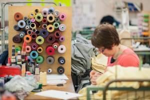 Hawick Knitwear factory, Hawick, Scotland. Photograph by Martin Hunter
