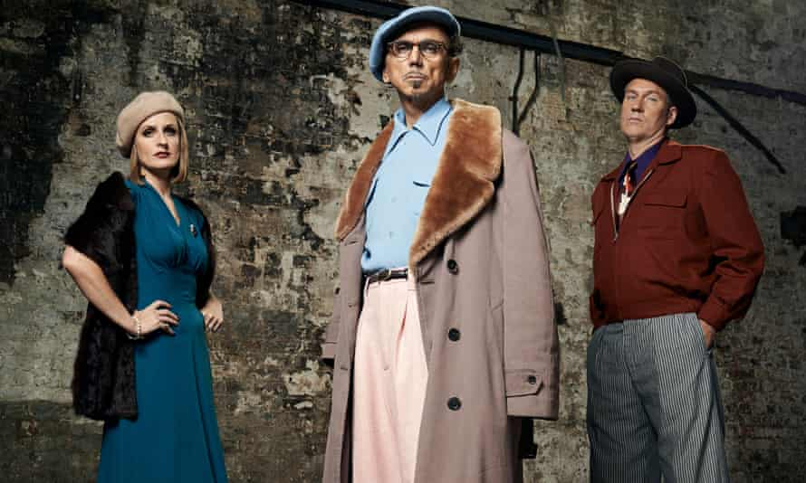 Rowland and the current Dexys personnel, Lucy Morgan and Sean Read.