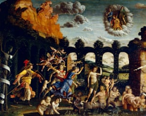 Triumph of Virtue or Pallas Expelling the Vices from the Garden of Virtue, 1502, by Andrea Mantegna.