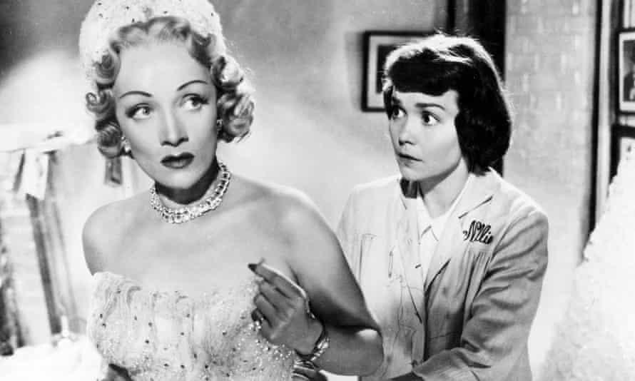 Marlene Dietrich and Jane Wyman in Stage Fright.