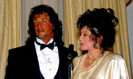 Sylvester Stallone with his mother, Jackie, in 1988.
