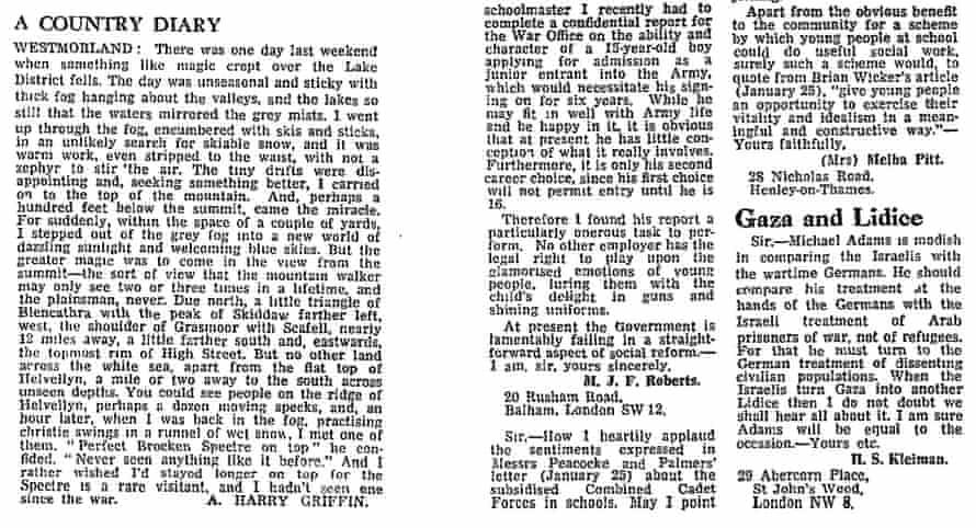 The Guardian, 29 January 1968.