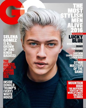 GQ cover with Lucky Blue Smith.