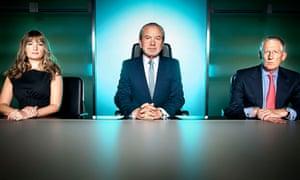 Alan Sugar and The Apprentice board