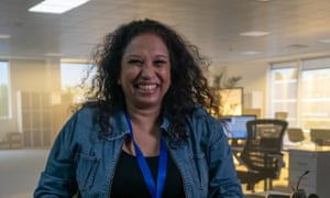'Telling people they've won gives me a feeling money can't buy' ... Camelot call-centre worker Anita Pires.