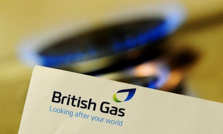 British Gas bill in front of a gas hob