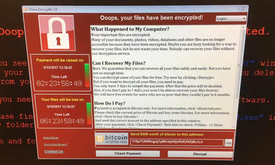 The WannaCry attack on the NHS cost the service almost £100m.