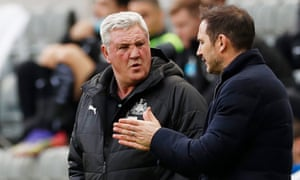 Newcastle United manager Steve Bruce and Chelsea manager Frank Lampard have a chat before kick-off.