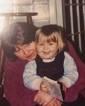 Gwyneth, aged two, with her mother Celia