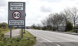 Crossing from the Republic of Ireland into Northern Ireland