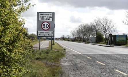 A welcome to Northern Ireland road sign