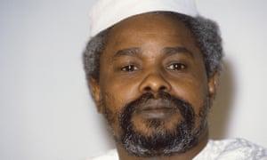 Hissène Habré photographed in N'Djamena in 1987.