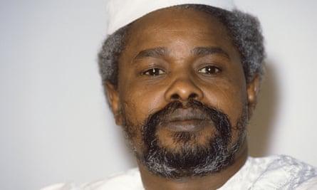 Former Chad president Hissène Habré.