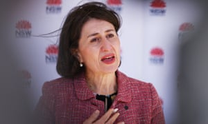 The NSW premier Gladys Berejiklian has declared a lockdown of four council areas of Sydney as the Covid-19 outbreak widens.
