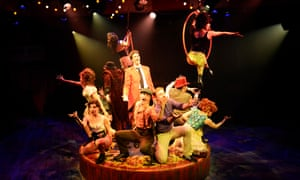 A still from Barnum, with Brigstocke centre