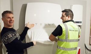 A Tesla Power Wall installed in Cardiff.
