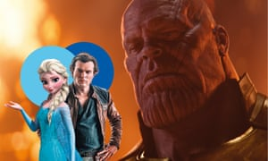 Frozen, Solo: A Star Wars Stor and  Avengers: Infinity War