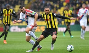 José Holebas, in action for Watford against Crystal Palace, made his professional debut 11 years ago at the age of 23.
