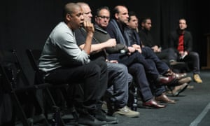 Jay Z speaks during a Q&A following the film's world premiere.
