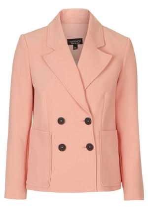 double breasted jacket £65, Topshop