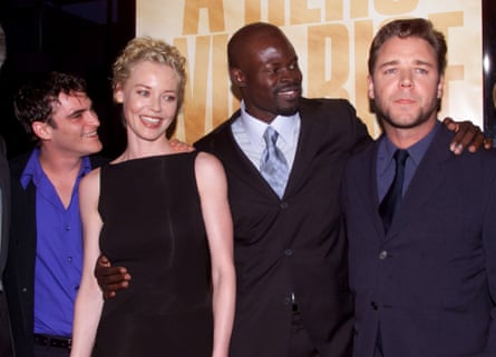 Joaquin Phoenix, Connie Nielsen, Djimon Hounsou and Russell Crowe at the Gladiator premiere