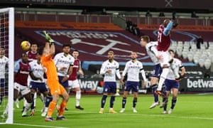 West Ham's Angelo Ogbonna heads in the opening goal.
