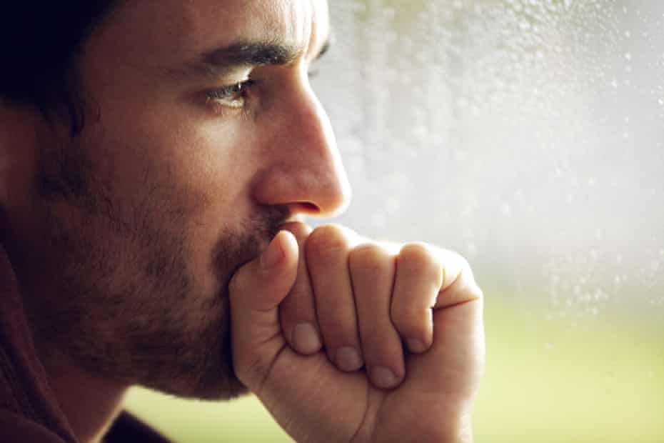 A man looking pensive