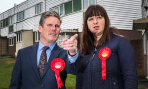 Ruth Smeeth, with Keir Starmer during the 2017 general election campaign