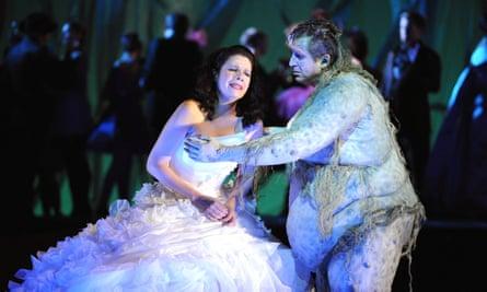 Ana Maria Martinez as Rusalka and Mikhail Schelomianski as Vodnik in Glyndebourne's 2009 production of Dvorak's opera
