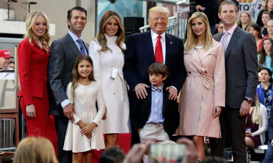 Donald Trump has brought all four of his adult children on the trip – Tiffany, Donald Jr, Ivanka and Eric.