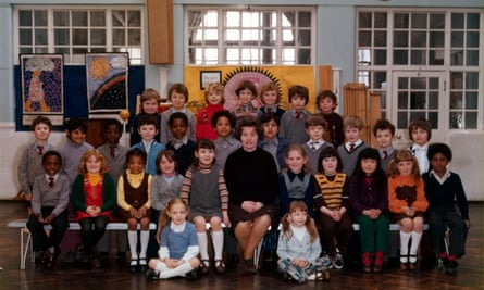The year 3 class at Little Ealing primary school, 1977. Steve McQueen is seated fifth from left in the middle row.
