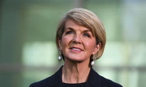 Julie Bishop was knocked out in the first round of the Liberal party leadership on Friday.