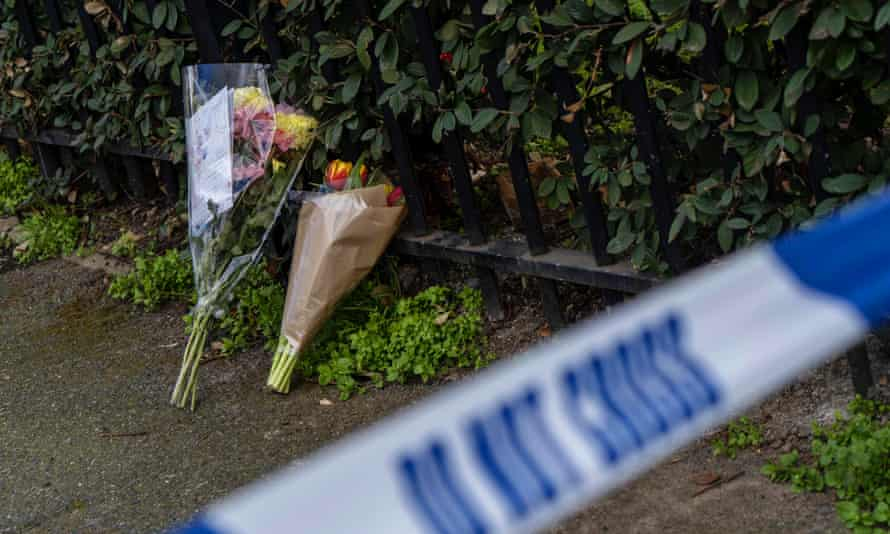 The scene of a fatal stabbing in east London.