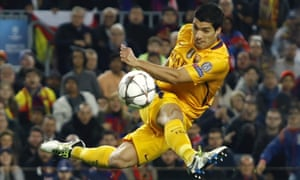 Luis Suárez, throwing Sport Billy shapes during last week's first leg.