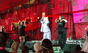 Self Esteem perform at the Pussy Parlure at Glastonbury 2019.