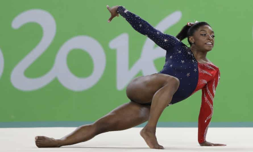 Simone Biles during the artistic gymnastics women's qualification, Rio 2016